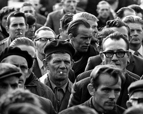 Striking workers. The Netherlands, Oude Pekela, September 1969