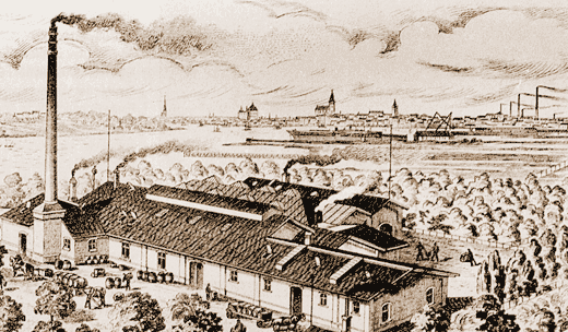 Chemical factory in Rostock, 1890